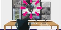 Operation without distraction: The CrossDisplay switching from G&D doesn't stop at unusual monitor configurations and multihead graphics cards. This means that the user can work intuitively, as the switching process simply follows the mouse pointer. For even greater control, the systems can also be operated easily via a graphically designed touch panel. (Image: G&D)