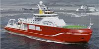 Artist's impression of RRS Sir David Attenborough (Image: Cammell Laird and British Antarctic Survey)