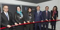 From left: Director General of Business Finland, Pekka Soini; Director General of ‎the Ministry of Employment and Economy, Ilona Lundström; Minister Anne Berner; President Rolls-Royce Marine, Mikael Mäkinen; UK's Ambassador to Finland, Tom Dodd; Mayor of Turku, Minna Arve (Photo: Pekka Leino)