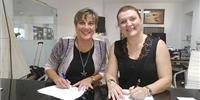 (L)Alexandra Anagnostis-Irons (R) Despina Panayiotou Theodosiou (Photo: Total Marine Solutions)