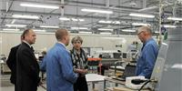 Theresa May at Kelvin Hughes' facility in Enfield (Photo: Kelvin Hughes)
