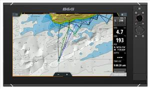 Zeus3 chartplotter showing alternative PredictWind routing. (Photo: B&G)