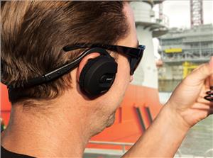Bluetooth headsets permit hands-free communication and offer high-definition sound and noise cancelling. (Photo: Sena Industrial)
