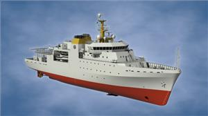 The 95-meter Hydrographic Survey Vessel is said to be the most complex vessel ever built in South Africa  (Photo: Kongsberg Maritime)