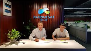 Robert Kenworthy, CEO GTMaritime with Josh Suo, Vice GM of Marinesat (Photo: GTMaritime)