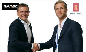 Espen Martinsen of Nautisk with Vigleik Takle of Kongsberg Digital (Image: Nautisk)