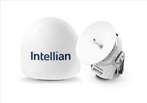 Intellian's v45C antenna offers a compact VSAT solution for space-limited installations. Image: Intellian